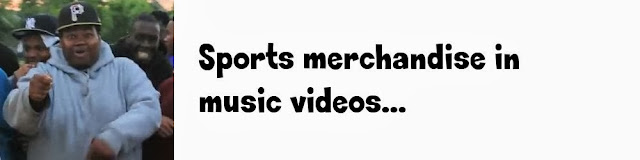 Sports merchandise in music videos