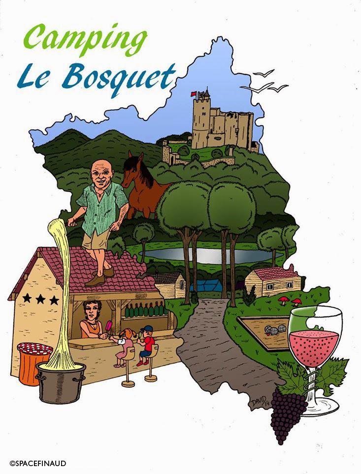 Camping le Bosquet, La Fouillade, L'Aveyron, Sud de la France