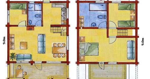Planos de casas modelos y dise os de casas planos de - Planos de casas unifamiliares ...
