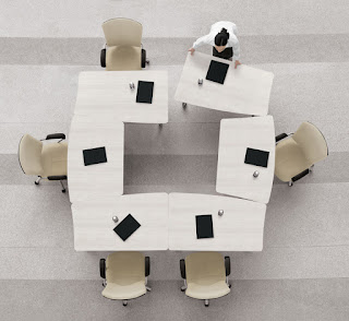Modular Office Table Configuration