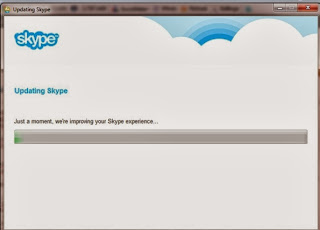 Updating Skype Progress