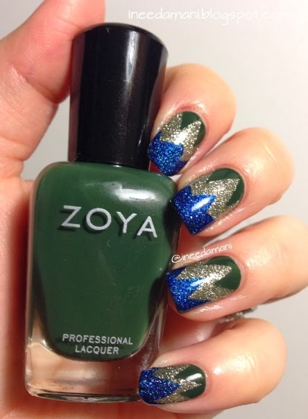 zoya hunter zigzag tape mani inspired by nailside