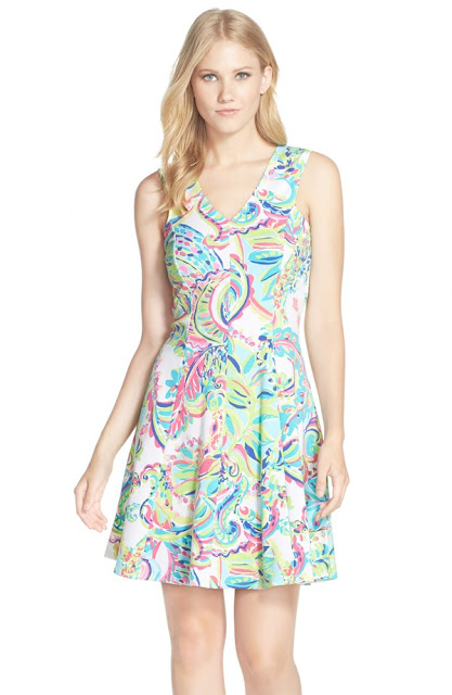 lilly pulitzer fit and flare dahlia dress teacher appropriate wear to work school
