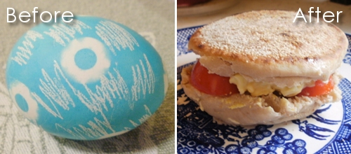 ... .: Makeover Monday: From Easter Egg to Egg Salad for One {recipe