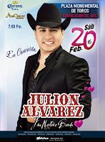 julión álvarez 20 de febrero aguascalientes