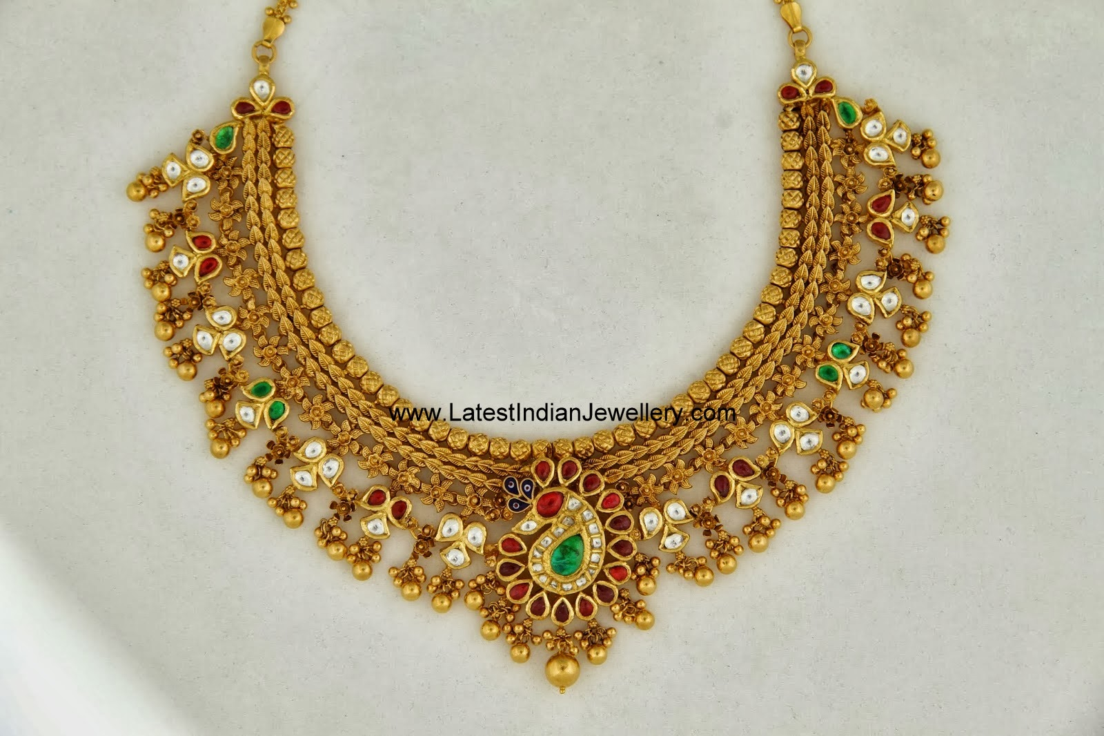 Antique Gold Choker Necklace