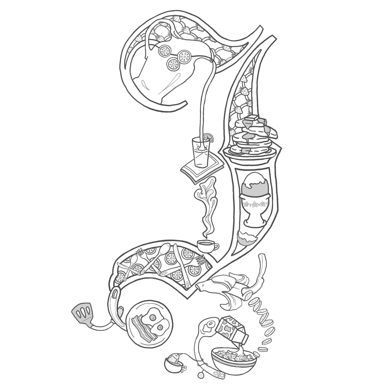 Alice stanne another illuminated letter for Illuminated alphabet templates