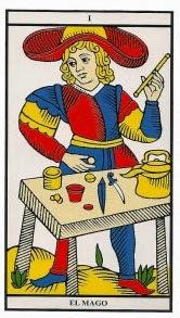 Carta de el mago en el tarot