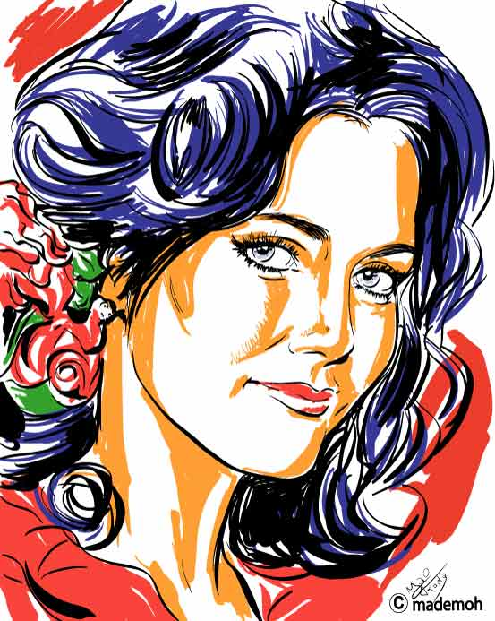 lynda carter portrait etape dessin suite. Black Bedroom Furniture Sets. Home Design Ideas