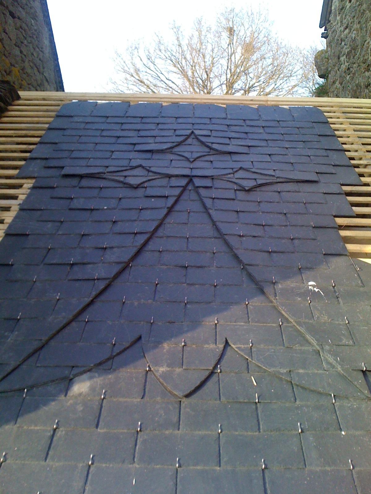 Dessin sur toiture ardoise - Crochet toiture ardoise ...