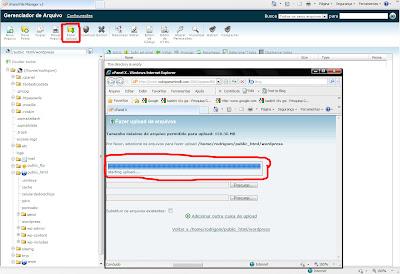 Primeiro Passo upload wordpress pt-br criar blog