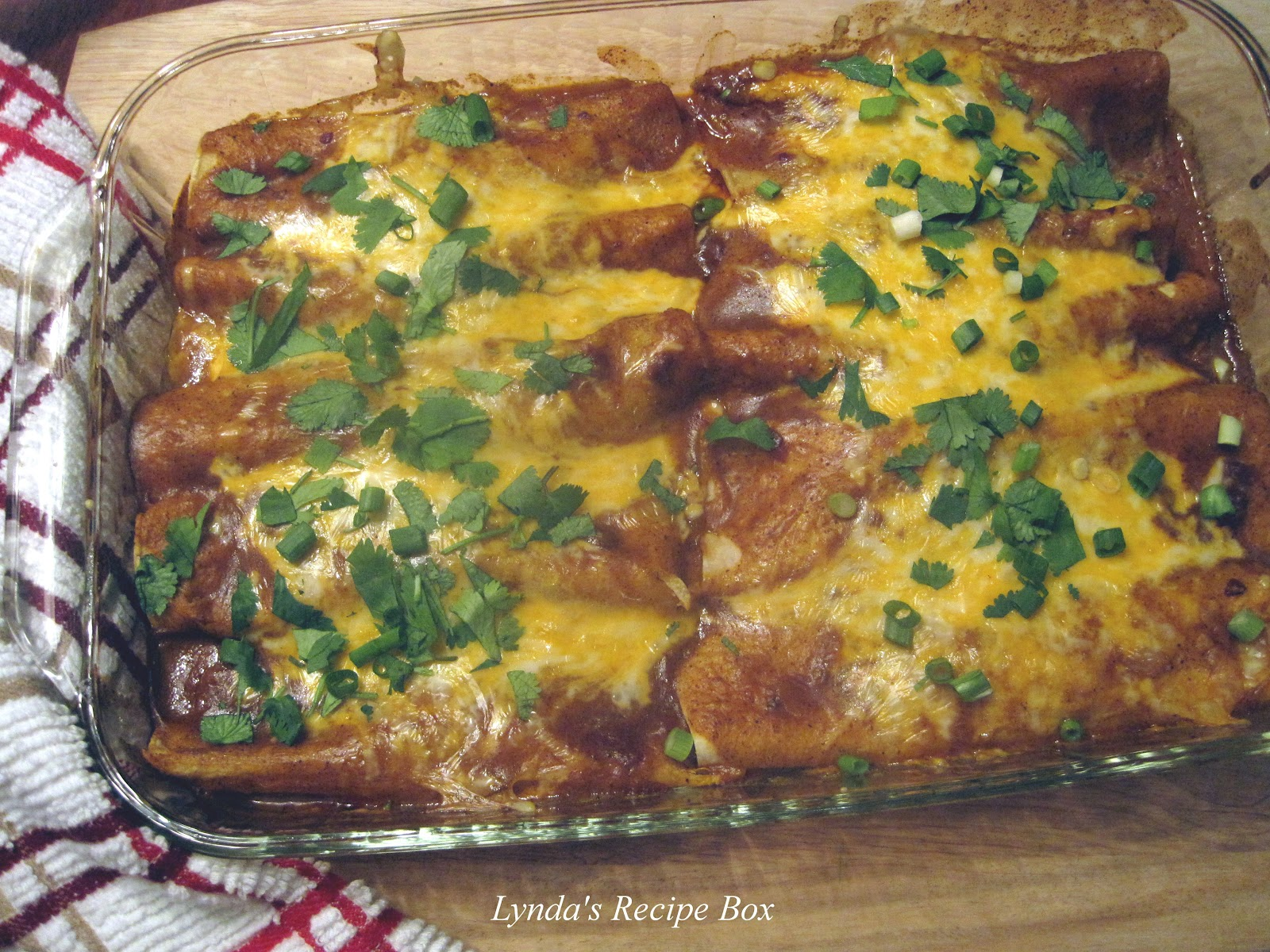 Lynda's Recipe Box: Tex - Mex Beef Enchiladas - ground beef filling ...