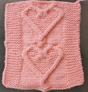 Knitting Patterns For Scarves Free : September Violets: Three Square Appeal