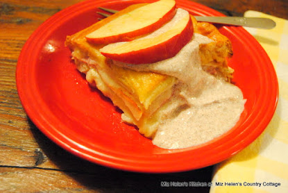 Apple Ham Turkey Bake with Cinnamon Dressing