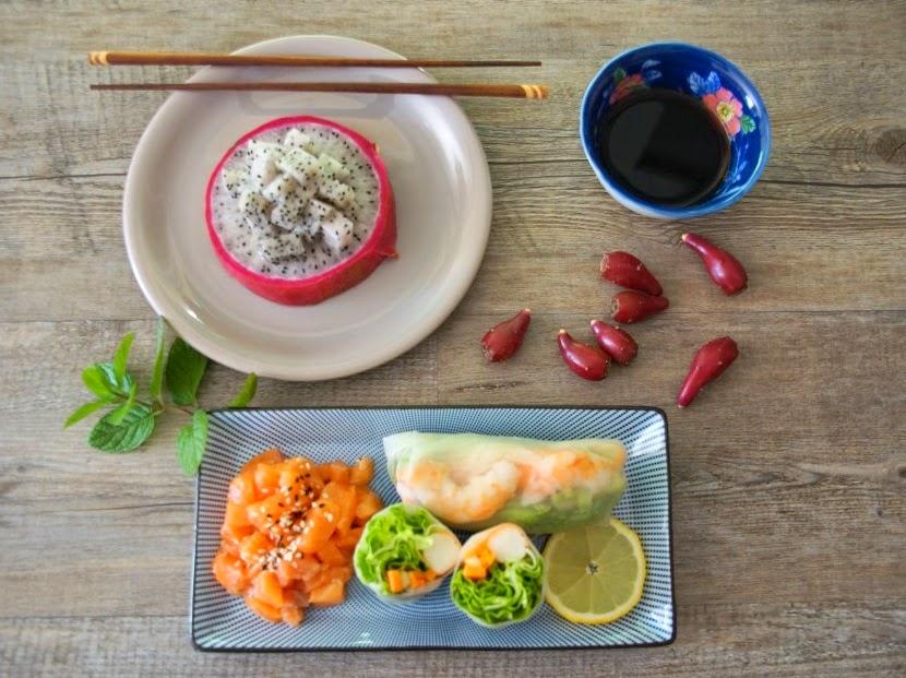 Menu minceur rouleaux de printemps saumon marin for Blog cuisine minceur