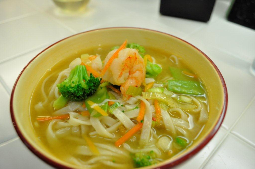 Cooking with Joanna: Miso Soup with Shrimp, Veggies & Noodles