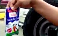 agua envasada como leche escolar en Venezuela