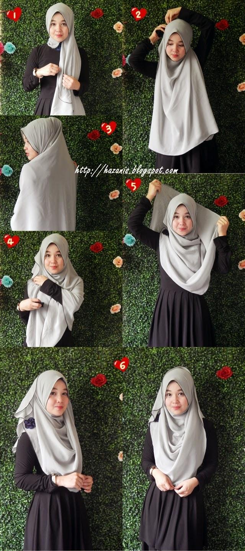 ... cara memakai shawl ombak cara menggunakan jilbab selendang panjang