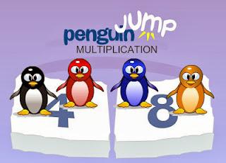 Las tablas de multiplicar con el pingüino saltarín