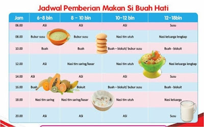 Jadwal makan anak 1 tahun