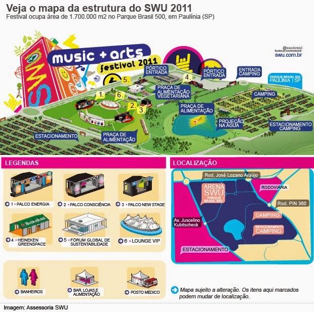 Mapa do Festival SWU de 2011