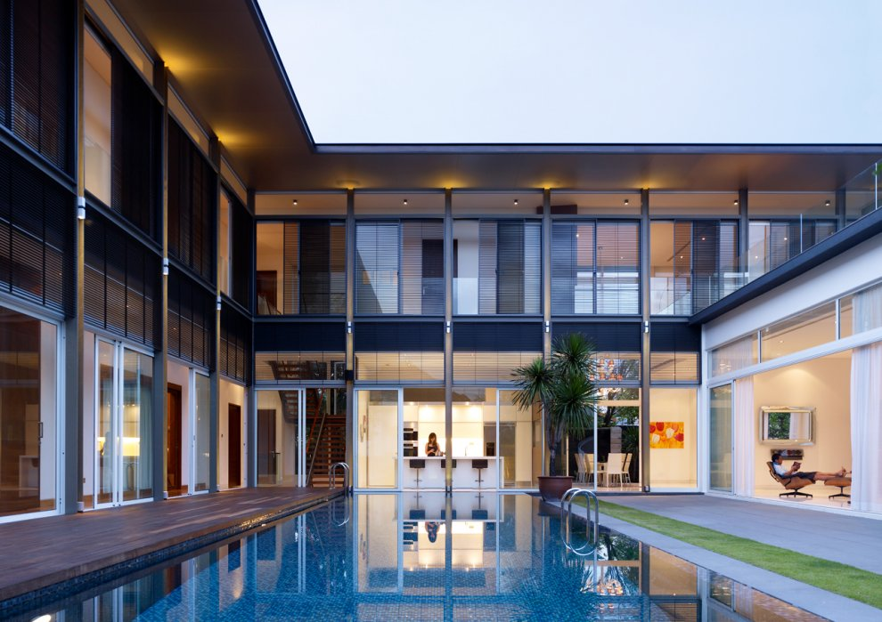 Modern House Design In Singapore For Single Family Residence