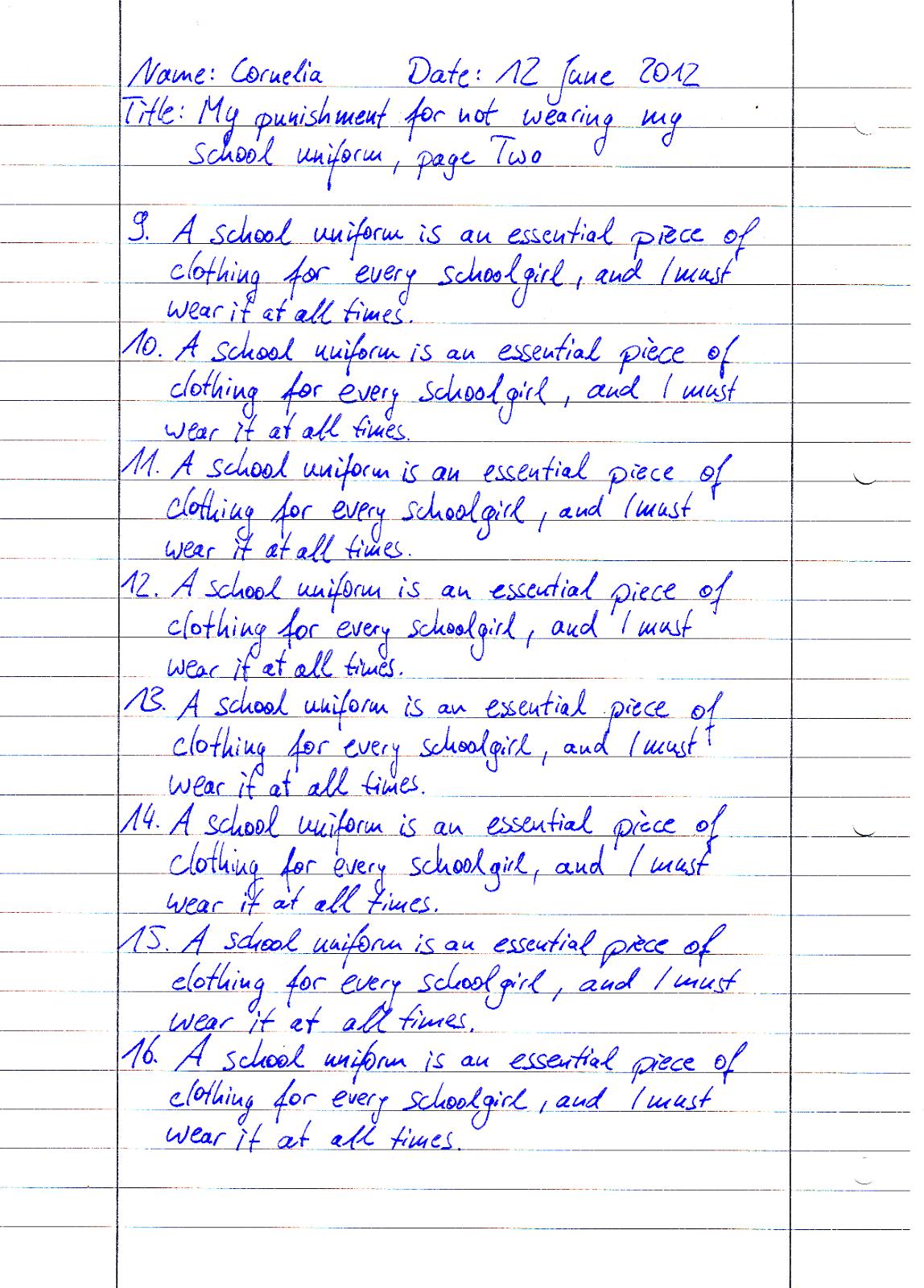 lines fetish punishment Writing