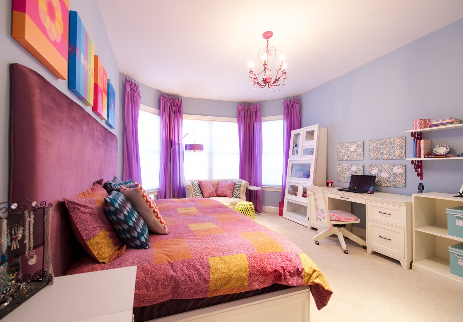 Lady Bedroom Funky Colorful Haven For A Tween Girl From Olamar Interiors