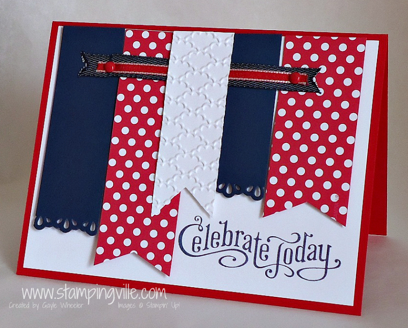 Celebrate Today Handmade Card w/Red, White & Blue