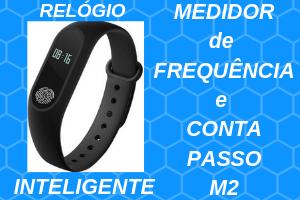 Relógio Inteligente Medidor Frequência Conta Passo M2