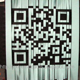 QR code weaving birthday card