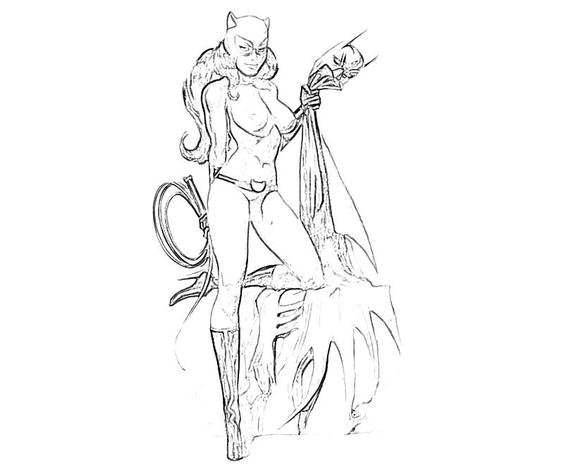 Batman arkham city catwoman style how coloring for Catwoman printable coloring pages