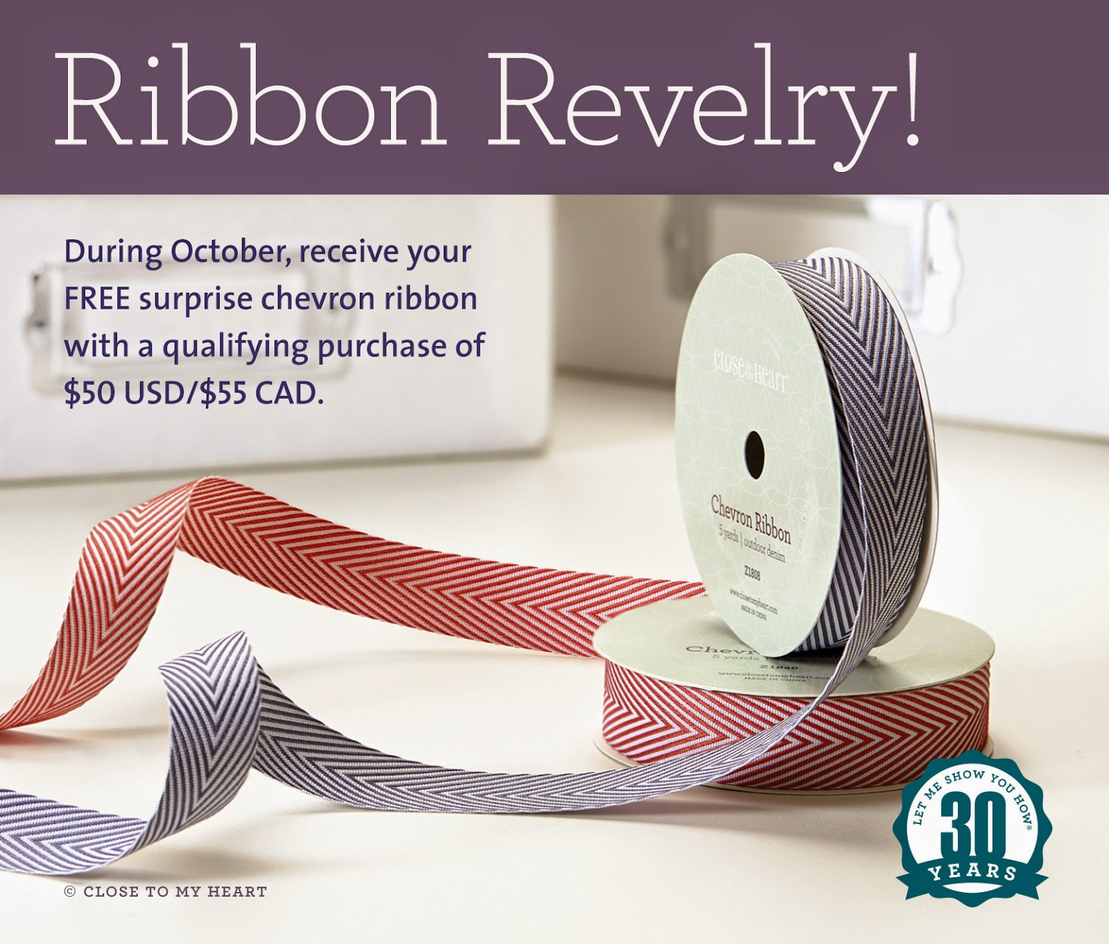 CTMH October Special Free Ribbon