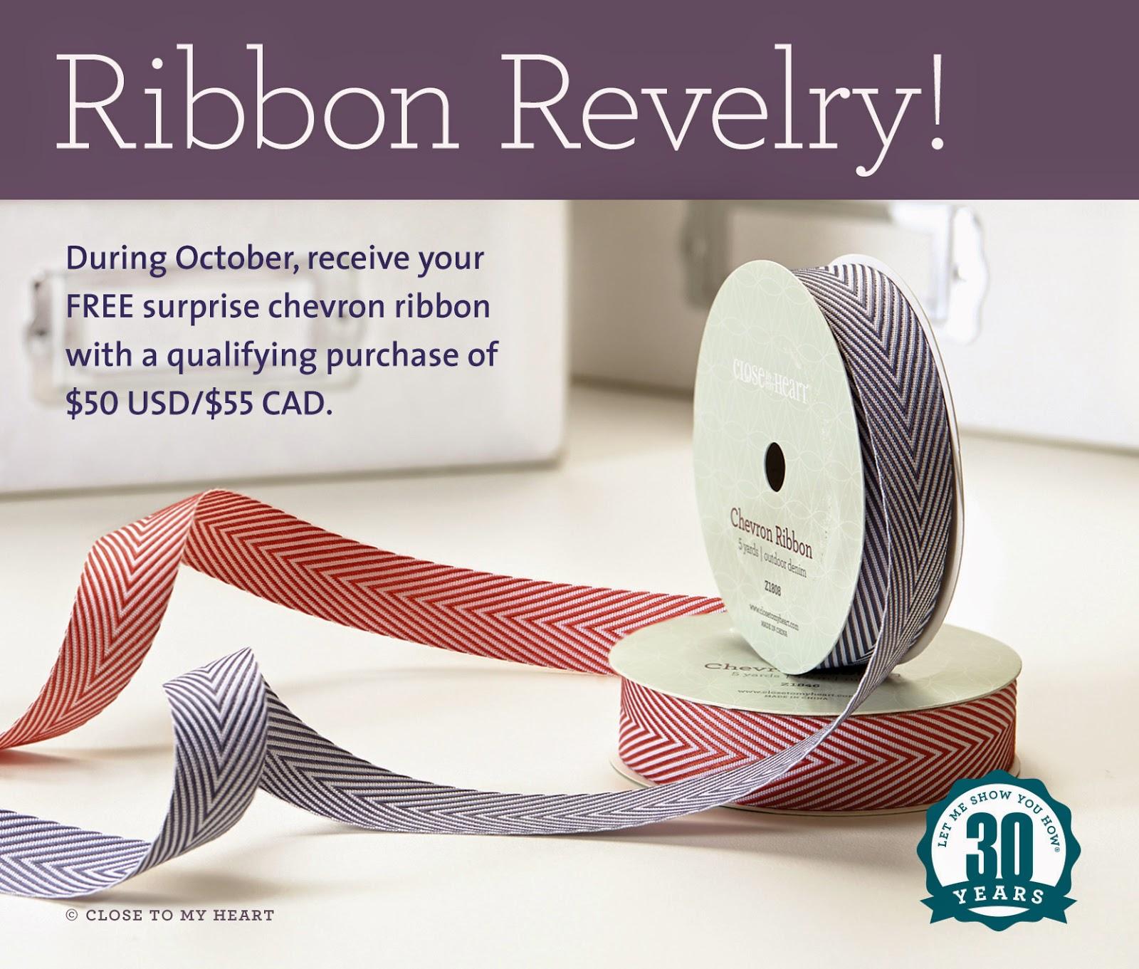 CTMH October Special Free Ribbon