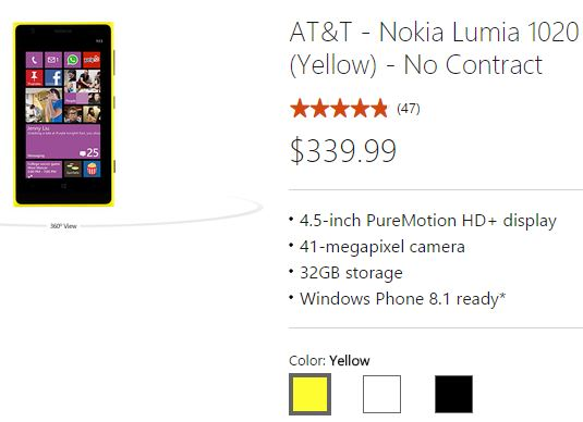 Cheapest off contract Nokia Lumia deal