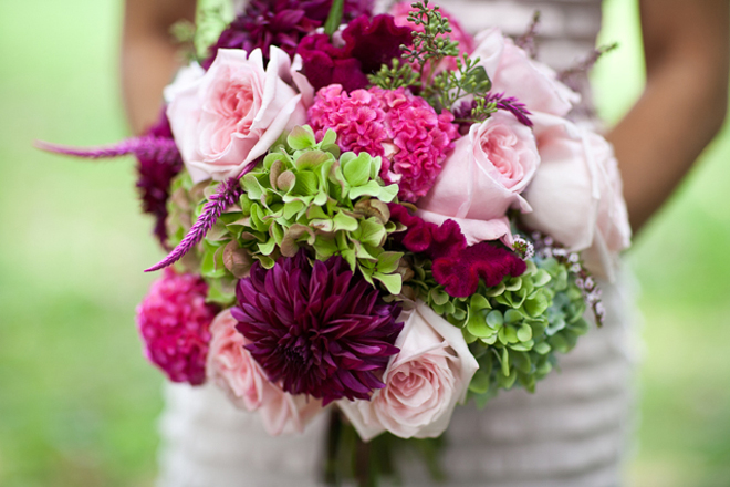 Bridal Bouquets With Cabbage Roses : Stunning wedding bouquets part belle the magazine