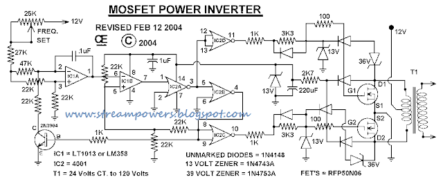 Simple 1000W Power Inverter circuit diagram Diagram SOlution