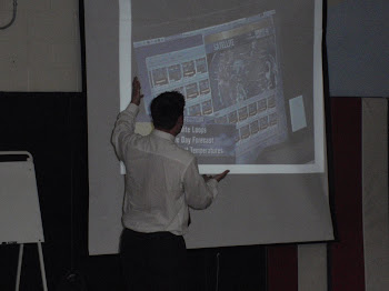 Kevin Skarupa with his PowerPoint