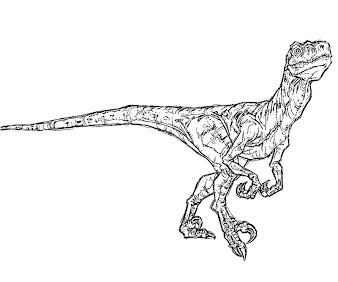 #10 Jurassic Park Coloring Page
