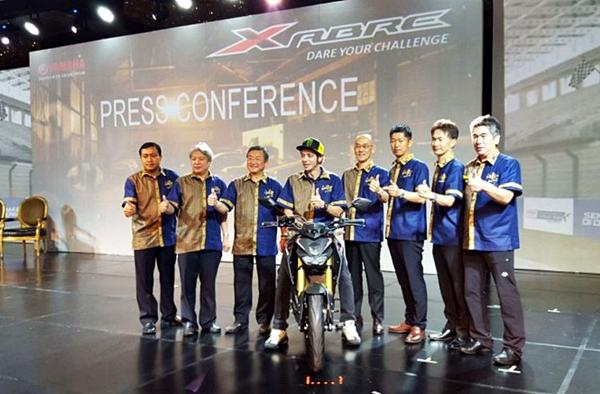 Motor Baru Yamaha Xabre Diluncurkan Rossi di Pulau Dewata