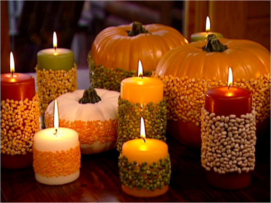 Let 39 s decorate online trick or treat for Homemade fall decorations for home