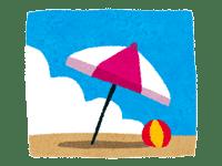 ビーチボールとパラソル | 海水浴などのイラスト・写真素材。無料で商用可