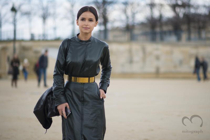 Digital projects investor and Founder of Buro247 Miroslava Duma at Paris Fashion Week 2014 Fall Winter PFW season