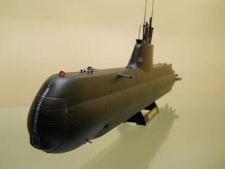maqueta del submarino alemán tipo 214