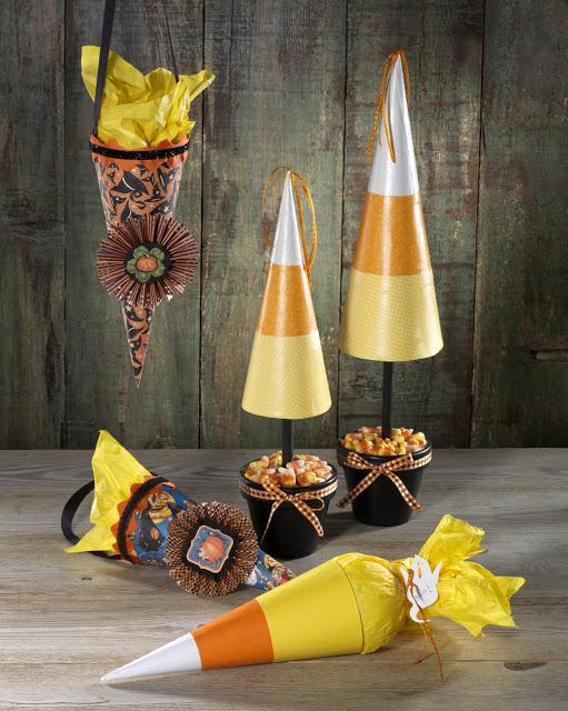 Paper Mache Halloween Cones @craftsavvy @sarahowens #craftwarehouse #halloween #party #diy