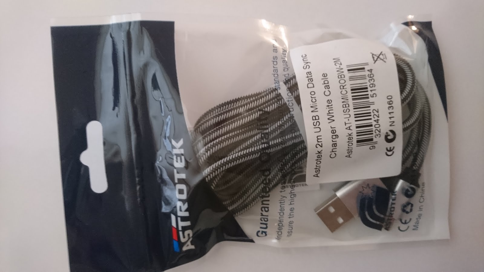 Micro usb cable Astrotek 2M braided $5.00