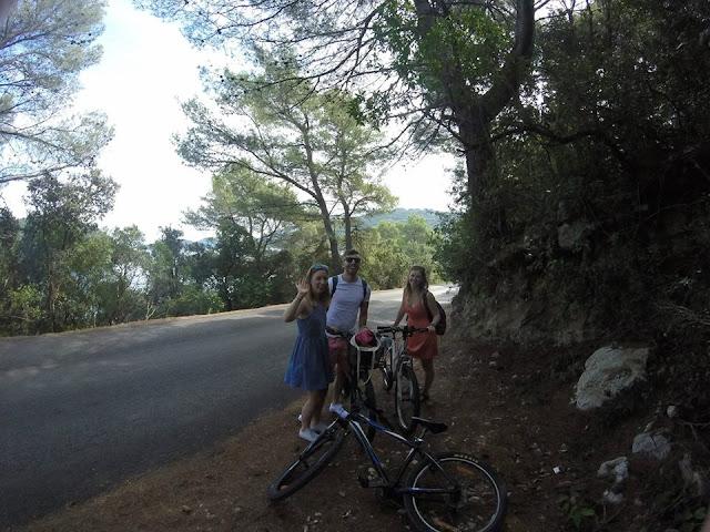 Hiring bikes on Mljet Island