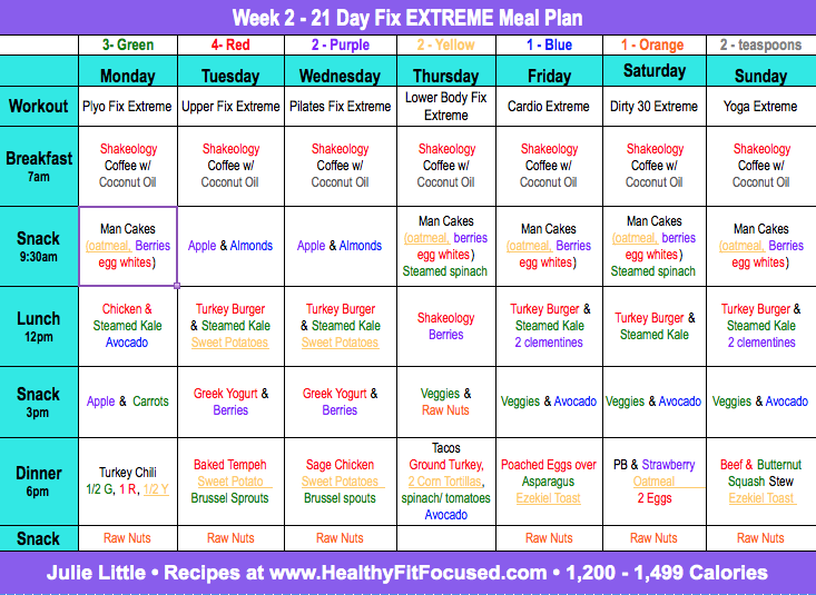 21 Day Fix Extreme Meal Plan - 21 Day Fix Extreme Week 1 Update and Review Plus New 21 Day Fix Extreme Meal Plan, www.HealthyFitFocused.com