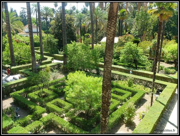 Séville Real Alcazar jardin labyrinthe Palais