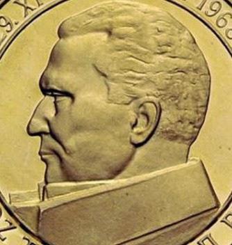 gold coin Yugoslavia AVNOJ 25 years 1968 200 DIN  SFRJ